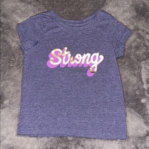 "EUC 3T Cat & Jack ""Strong"" t shirt"